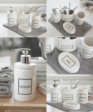 Bath 악세사리 4종 SET - Lotion, Brush, Tumbler, Soap